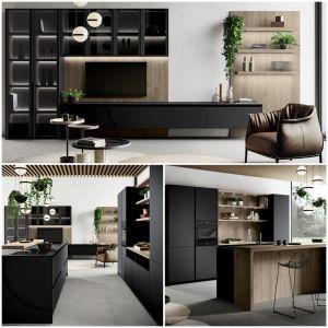 Modernes Wohnen- Küche und Wohnzimmer wie aus einem Guss ...